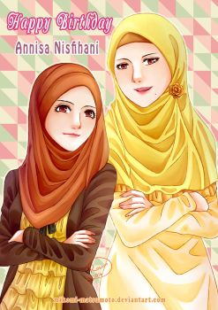 Happy Bithday My Beloved Sister, Annisa, 26 y.o. by mikomi-matsumoto