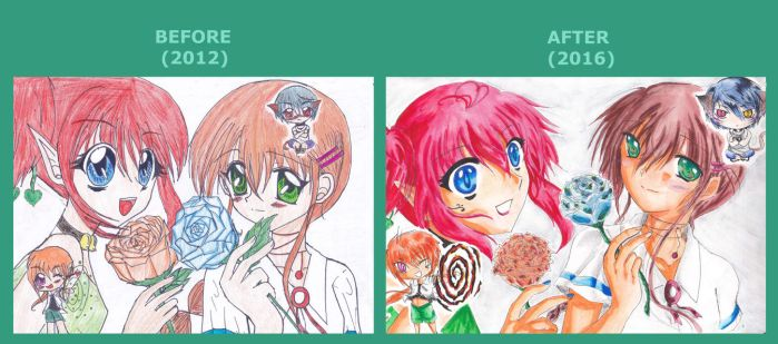 Before/After my First OC's by MIYUTAKADA