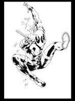 Deadpool By Deilson ink by me by jbellcomic