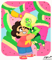 Steven and Peridot by Clairbanthedoll