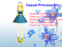PD casual princess Rin by RinLenFan