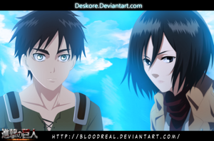Eren and Mikasa ||COLLAB|| by Advance996