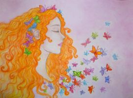Butterfly Heaven - watercolour version by Sitara-LeotaStock