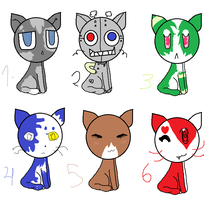 kitteh adoptables by Neonmoon133