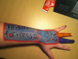 TF2 The Scout: More Arm Art by ZANe-The-Damned