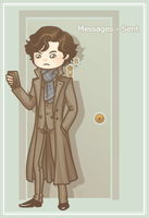 Sherlock Texting by Galadnilien