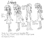 Rarity (Human) - Model Sheet by Trinityinyang