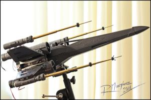 X-Wing revisited assembled model by Hikaru84