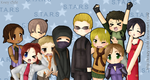 Lucky S.T.A.R.S by Krazy-Chibi