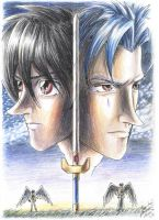 Two sides of the same sword by anla