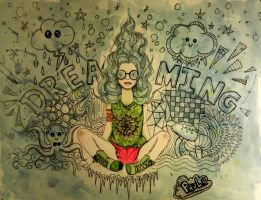 'Dreaming' Doodle by paula-the-cat