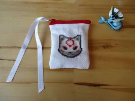 Cross stitch Chibiterasu purse by Miloceane