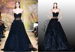 illustration for zuhair murad S/S 2014 couture by S-NASR