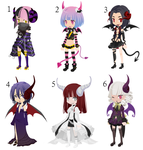 Demon Girl Selfy Adoptables - [CLOSED] by Mrs---Selfy