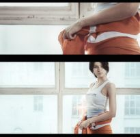getting ready [pt. 3] :: Chell :: Portal 2 by GlamForUs