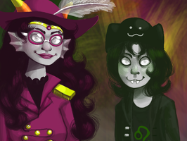 Rear Admiral Feferi and Commodore Nepeta by Magdaleen-96