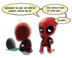 Deadpool and Spiderman by manungguljar