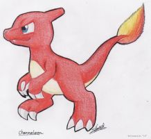 Charmeleon strutting its stuff by Boltonartist
