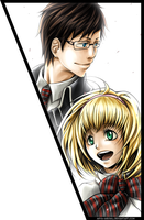Yukio and Shiemi for Elena by Arya-Aiedail