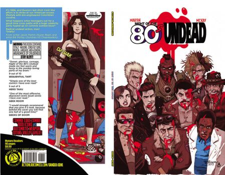NIGHT of the 80's Undead TPB COVER by jasinmartin