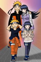 NaruHina:Together Now and then by mattwilson83