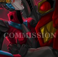 Commission: Starscream and Windblade by Ty-Chou