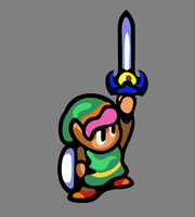 Link with Master Sword by likelikes