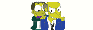 DAMuro Burns and Smithers by RozStaw57