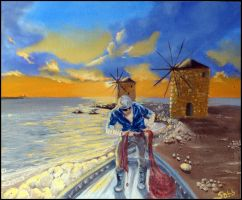 Windmills Could Never Seduce a Fisherman by sabb-art