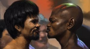 Manny Pacquiao vs. Tim Bradley by Raph04art
