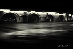 The Stone Bridge of Skopje in B/W by dardaniM