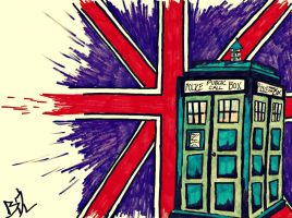 The TARDIS by Katniss-Tribute12