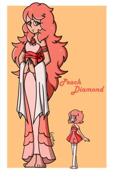 Peach Diamond by Grimmixx