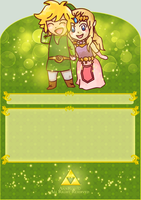 Link and Zekda Journal Skin by Annrov