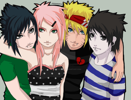 Team 7: Konoha's rock band I by xmissxmiseryx