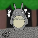 Totoro drawingg by ExtremeCookieMonster