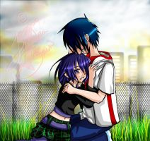 DP : Tearful embrace by DarkHalo4321