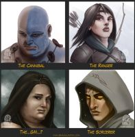 Fantasy Portraits by uncle-shaun