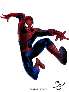 Spider-Man: colored by Rainbowpertyhat