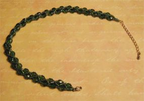 Necklace - Beaded Green by mihoyonagi