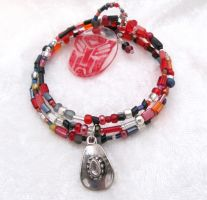 Ironhide memory wire bracelet by evilkillerpoptarts