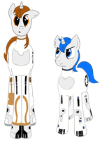 Portal 2 Atlas + P-body Ponies by kyrospawn