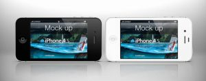 Free iPhone 4s Psd Landscape Mockup by Pixeden