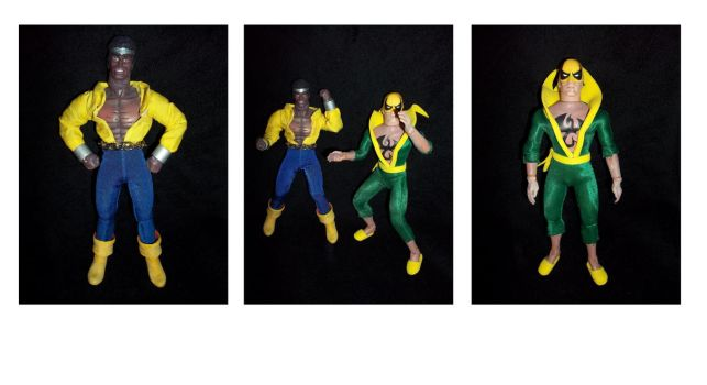 Custom Mego Power Man and Iron Fist Action Figures by ayelid
