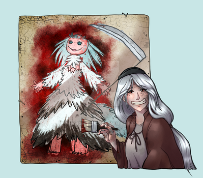 Happy Little Painting by necropsick