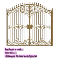 Gate Cut Out PNG STOCK by KarahRobinson-Art