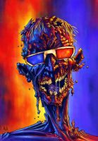 SUMMER DRIVE IN THREE D ZOMBIE by QuinteroART