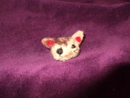 needle felted kitten by Puccawitch