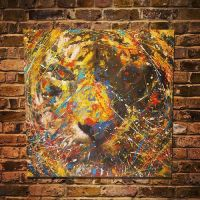 Spray paint art Tiger #2 original by colorpeoject