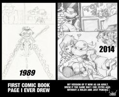 1989 - 2014 MY FIRST COMIC BOOK PAGE by ramova